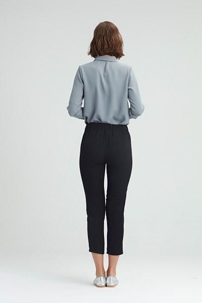 Dar Kesim Pantolon (Siyah) - Thumbnail