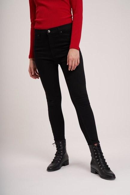 MIZALLE YOUTH - بنطلون جينز ضيق الساق (أسود) (1)