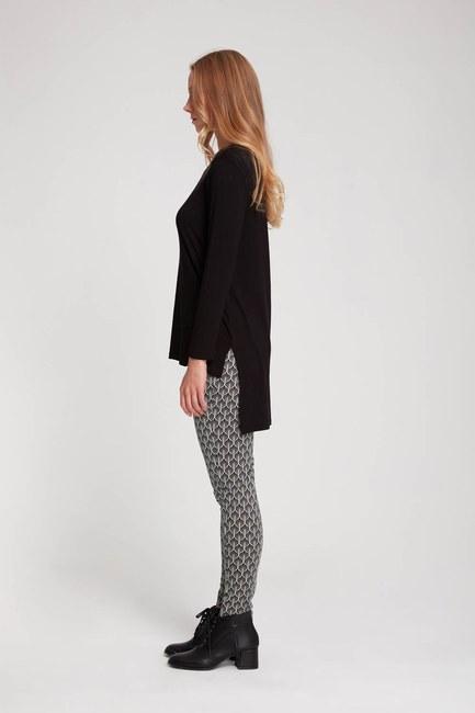 MIZALLE - Narrow Trousers (Black/White) (1)