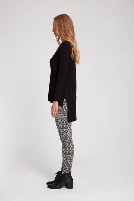 MIZALLE - Dar Paça Pantolon (Siyah/Beyaz) (1)
