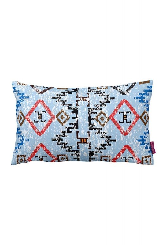 Decorative Pillow Cover With Geometric Border (33X57)