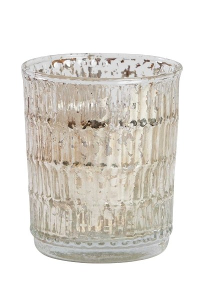 Decorative Glass Candle Holder - Thumbnail