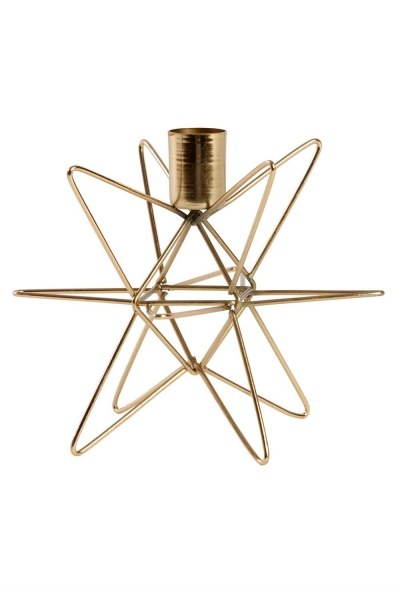 Gold Color Decorative Metal Candle Holder - Thumbnail