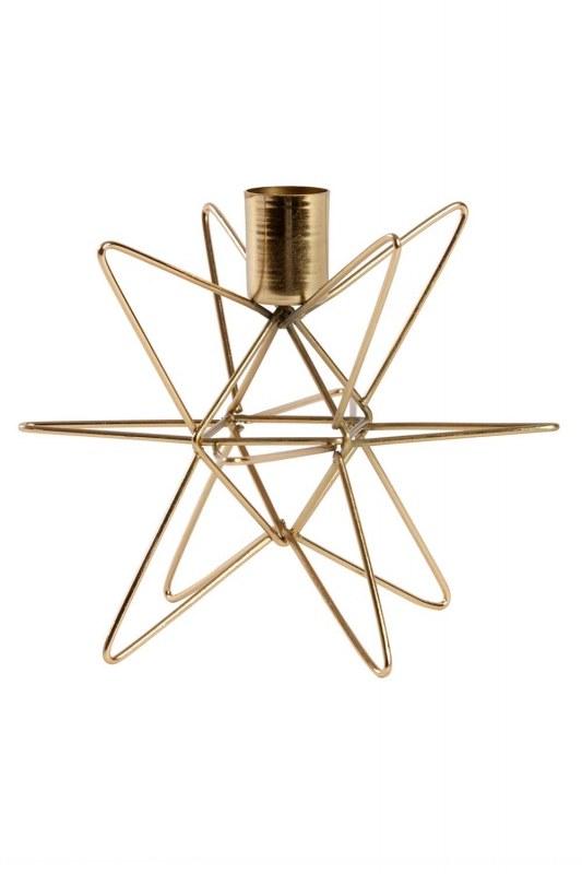 Gold Color Decorative Metal Candle Holder