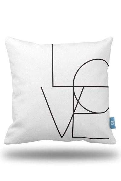Aşk Dekoratif Yastık Kılıfı (43X43) - Thumbnail