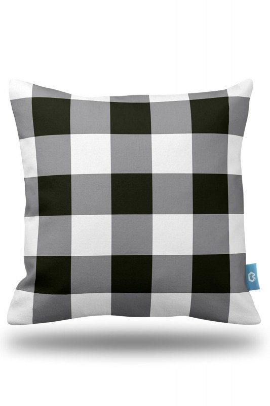 Plaid Decorative Pillow Case (43X43)