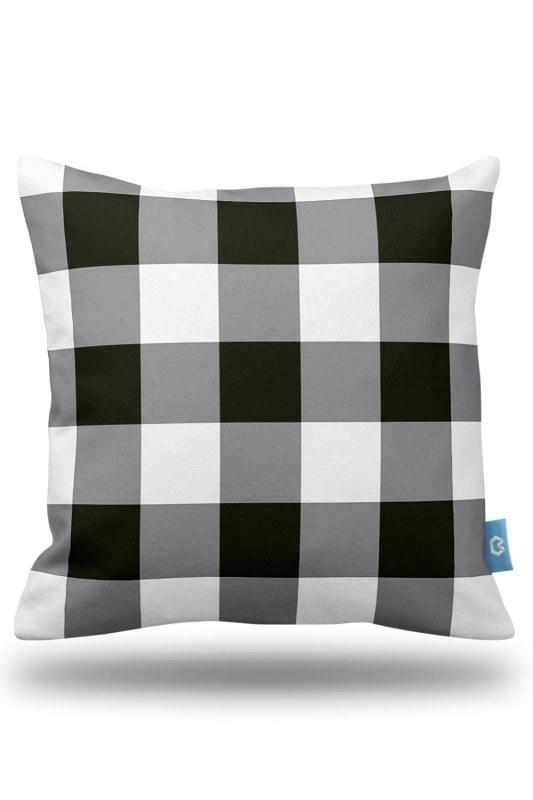 Plaid Decorative Pillow Case (43X43)