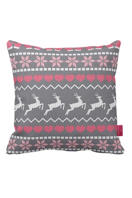 Deer Pattern Decorative Pillow Case (43X43)