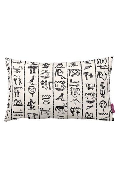 Hiyeroglif Dekoratif Yastık Kılıfı (33X57) - Thumbnail