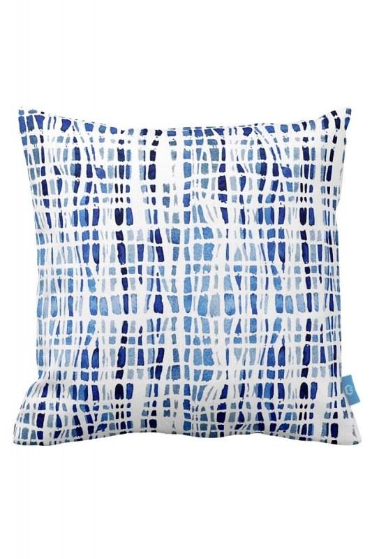 Blue Shades Decorative Pillow Case (43X43)