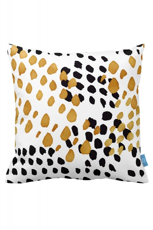 Polka Dot Decorative Pillow Case (43X43)