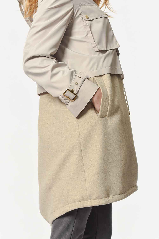 MIZALLE معطف لوكس (بيج) (1)