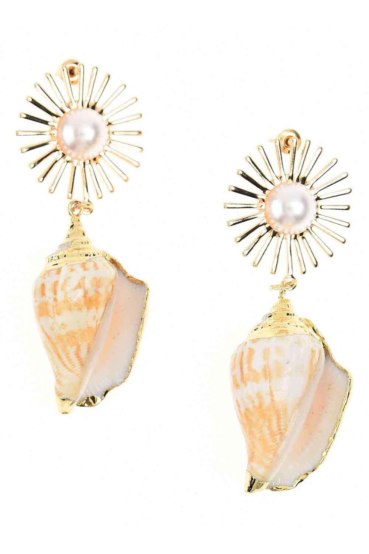 MIZALLE Seashell Earrings (St) (1)