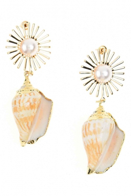 Seashell Earrings (St) - Thumbnail