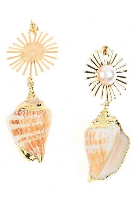 Deniz Kabuğu Küpe (St) - Thumbnail