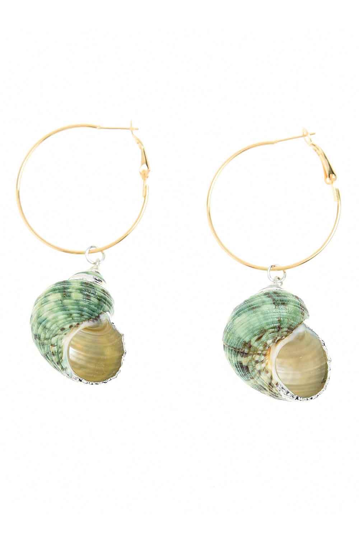 MIZALLE Seashell Dangling Earrings (St) (1)