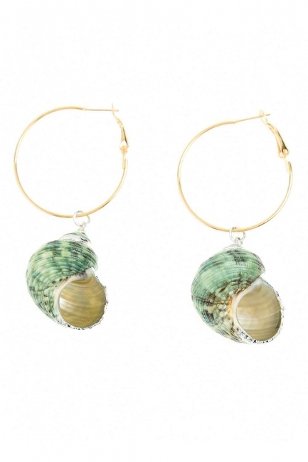 Seashell Dangling Earrings (St) - Thumbnail