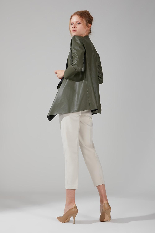 Deri Hırka Ceket (Haki)