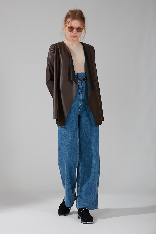 Deri Hırka Ceket (Kahverengi)