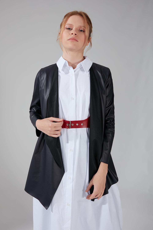 Deri Hırka Ceket (Lacivert)