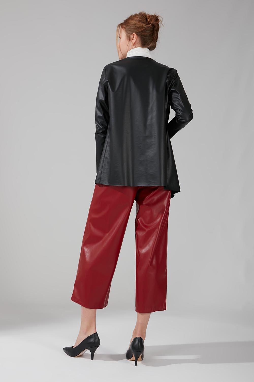 Deri Hırka Ceket (Siyah) - Thumbnail