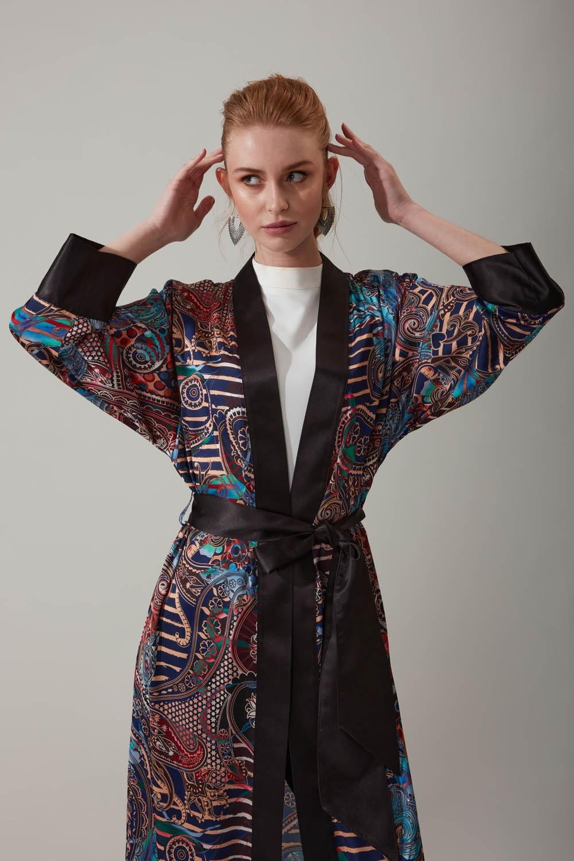 Şal Desenli Kimono