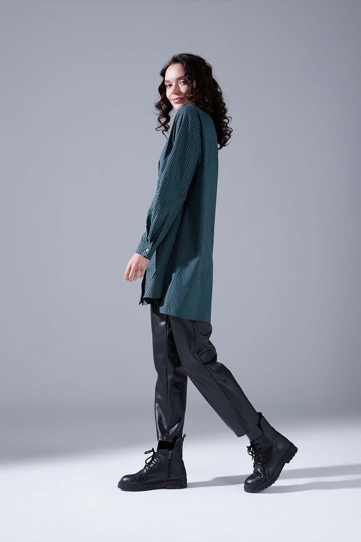 Desenli Yeşil Tunik Gömlek