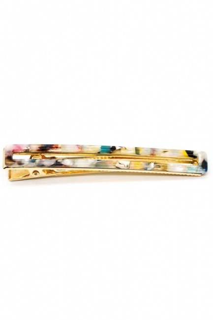 MIZALLE Patterned Hair Clips (Colorful)