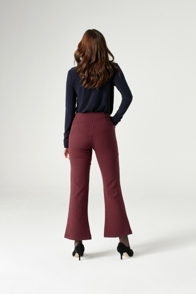 Figured Trousers (Red) - Thumbnail