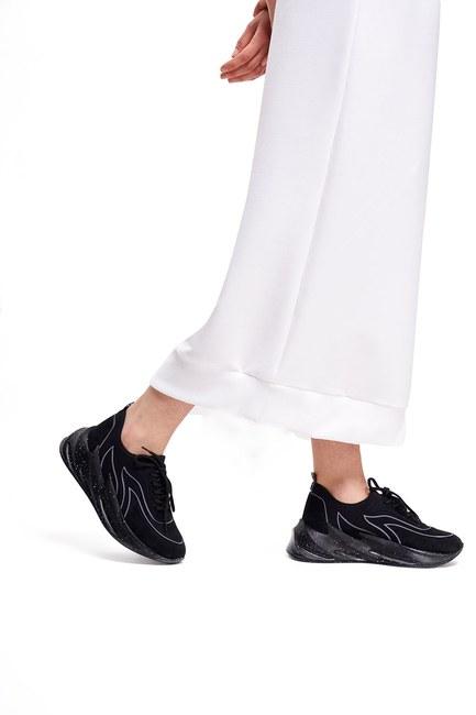 Desenli Scuba Spor Ayakkabı (Siyah) - Thumbnail