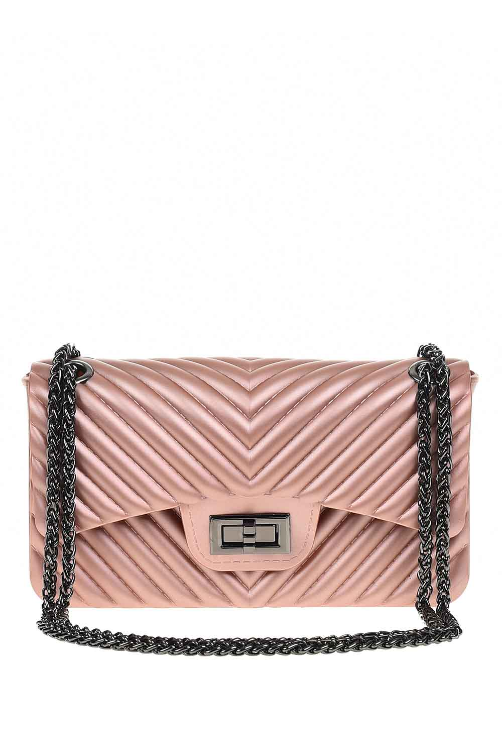 MIZALLE Patterned Hand Bag (Pink) (1)
