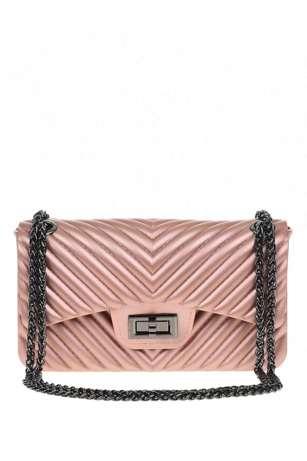 MIZALLE - Patterned Hand Bag (Pink) (1)