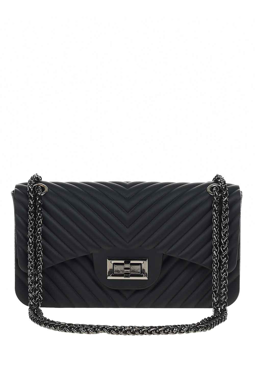 MIZALLE Patterned Hand Bag (Black) (1)