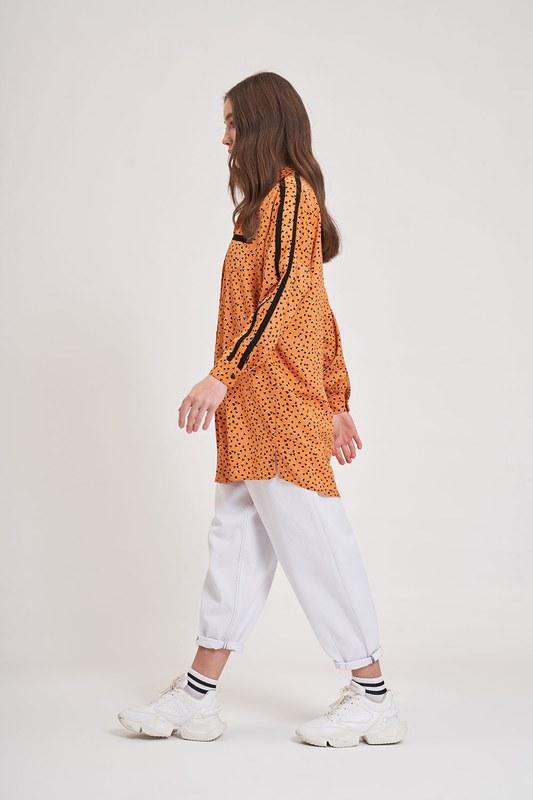 Desenli Trend Gömlek (Turuncu)