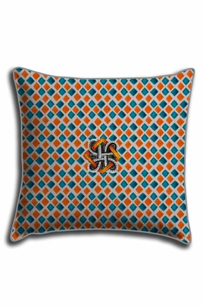 Digital Printed Lace Pillow Cover (44X44) - Thumbnail