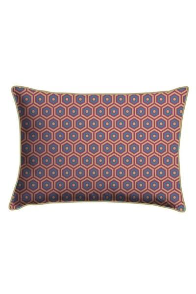 Digital Printed Honeycomb Lace Pillow Cover (30X50) - Thumbnail
