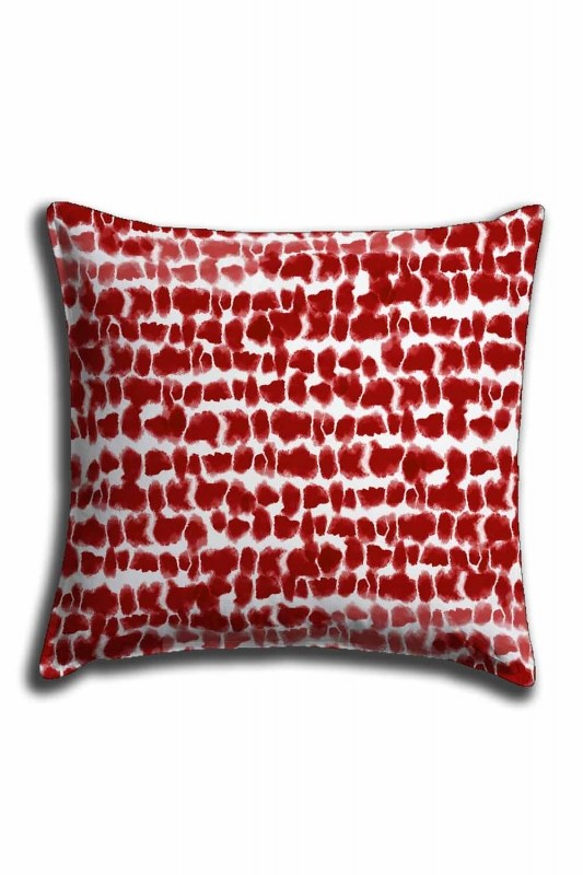 Digital Printed Polka Dotted Lace Pillow Cover (44X44)