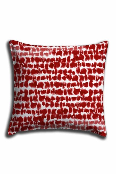Digital Printed Polka Dotted Lace Pillow Cover (44X44) - Thumbnail