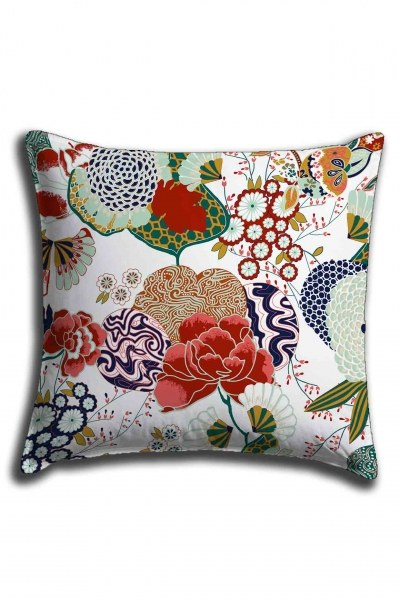 Digital Printed Floral Lace Pillow Cover (44X44) - Thumbnail
