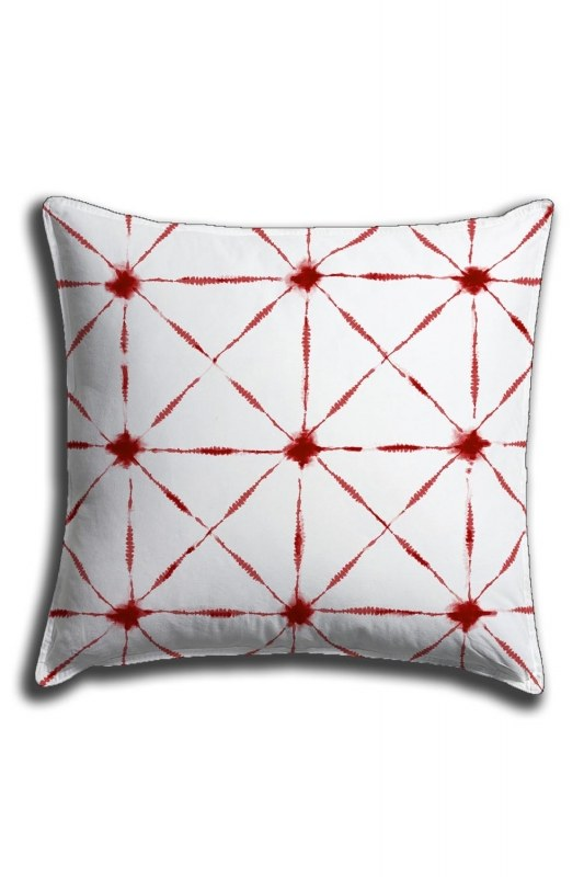 Digital Printed Line Details Lace Pillow Cover (44X44)