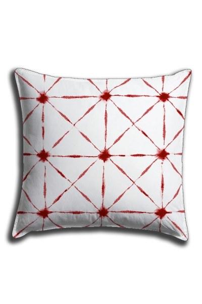 Digital Printed Line Details Lace Pillow Cover (44X44) - Thumbnail