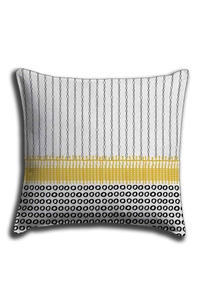 Digital Printed Patternful Lace Pillow Cover (44X44) - Thumbnail