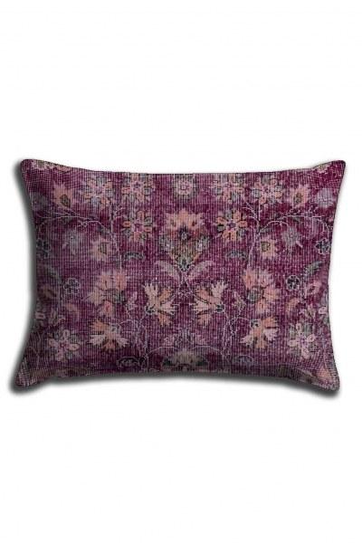 غطاء وسادة الدانتيل المطبوعة الرقمية ، نمط زهرة البنفسج (30X50) - Thumbnail