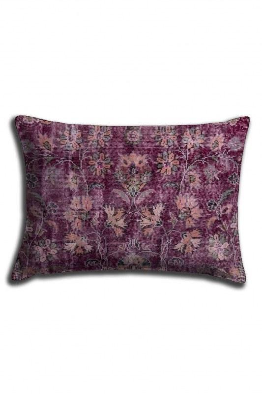 غطاء وسادة الدانتيل المطبوعة الرقمية ، نمط زهرة البنفسج (30X50)