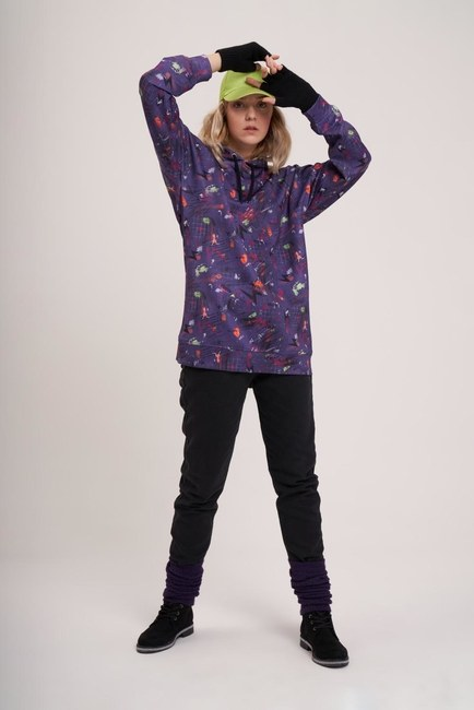 MIZALLE YOUTH - Digital Printed Sweatshirt (Purple) (1)