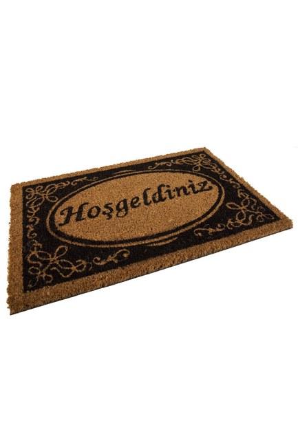 MIZALLE HOME Dikdörtgen Kapı Önü Paspası (Hoşgeldin)