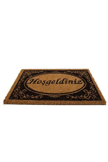 MIZALLE HOME - Dikdörtgen Kapı Önü Paspası (Hoşgeldin) (1)