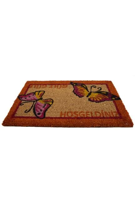 MIZALLE HOME - Dikdörtgen Kapı Önü Paspası (Kelebek) (1)