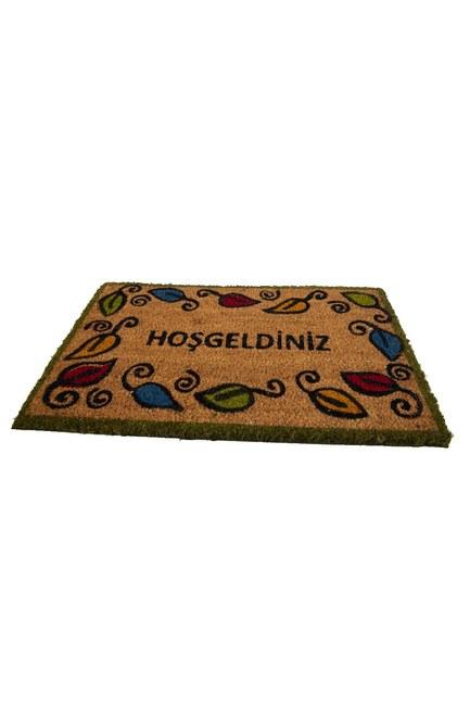 MIZALLE HOME - Dikdörtgen Kapı Önü Paspası (Yaprak) (1)