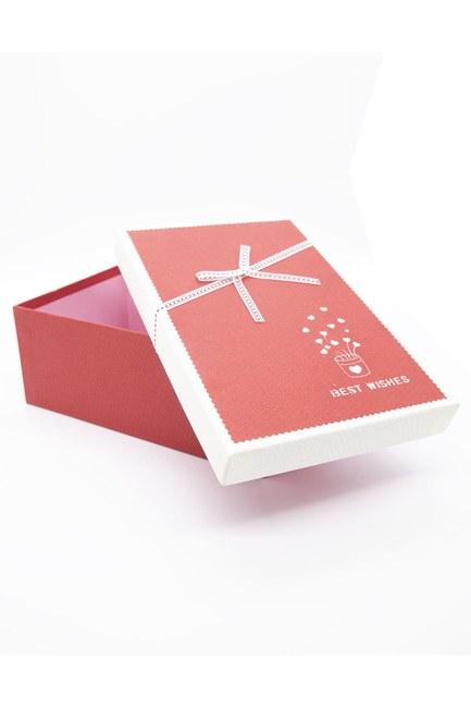 MIZALLE HOME - Kırmızı Dikdörtgen Renkli Kutu (14X21) (1)